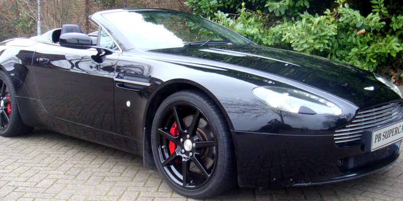 Hire an Aston Martin Vantage Cabriolet online with PB Supercars