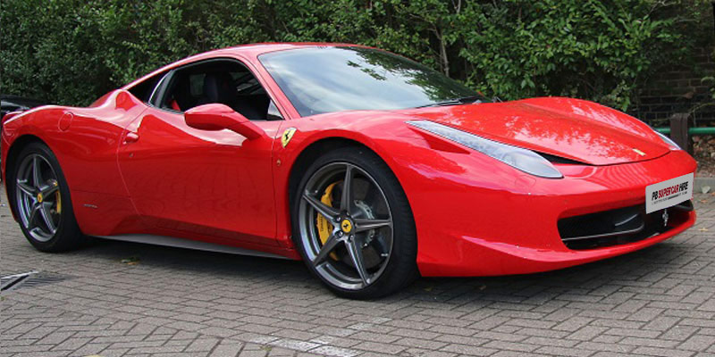 Cheapest Ferrari 458 Italia Coupe F1 Hire from PB Supercar Hire Low Prices Est 2006 5500 satisfied customers Master the art of arrival and experience this 562