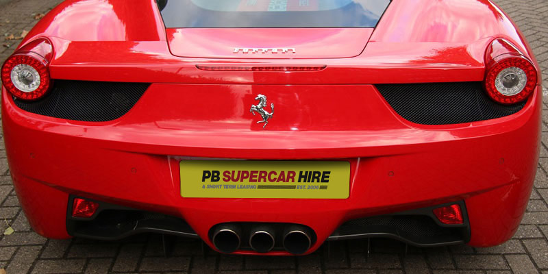 Rent a Ferrari 458 Italia from PB Supercars online today