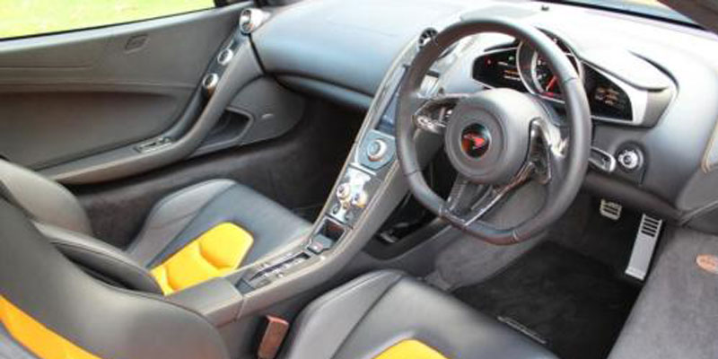 McLaren MP4 12C Hire Drivers Seat