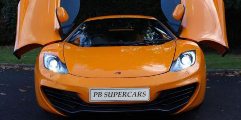 McLaren MP4 12C Hire Wing Doors